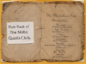 The Malta Quoits Club - Rule-book. Mr C Watler was team-captain.   LHS Archives