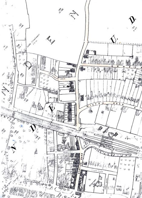 Extract from OS map, showing development as far as Elliswick fields and Granary Lane | LHS archives, RB170