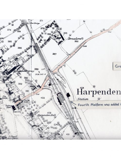 Extract from 1878 OS map | LHS archives, RB170