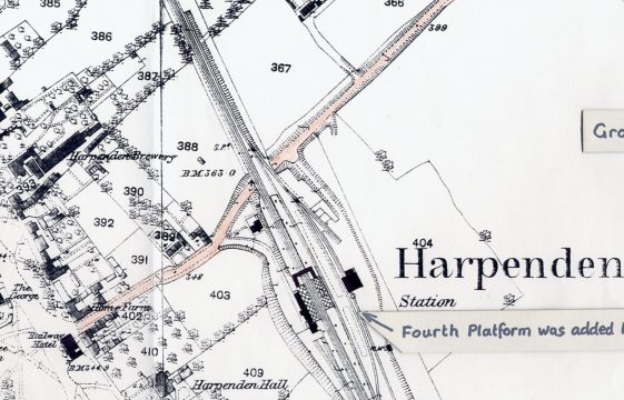 Station Road in 1878 and around 1914
