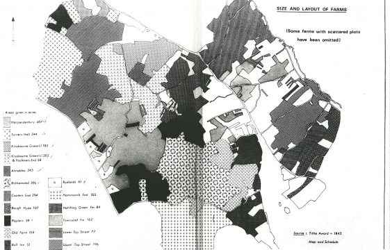 Farms identified on the 1843 Tithe Award Map for Harpenden