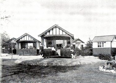 Revolving chalets in the grounds of the NCH Children's Sanatorium   NCH Brochure, scanned by John Olley