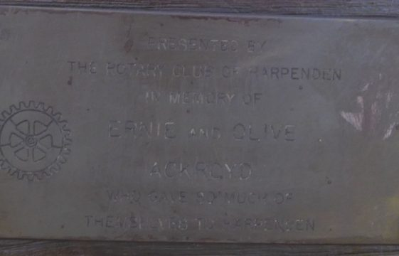 Plaques and memorials throughout Harpenden