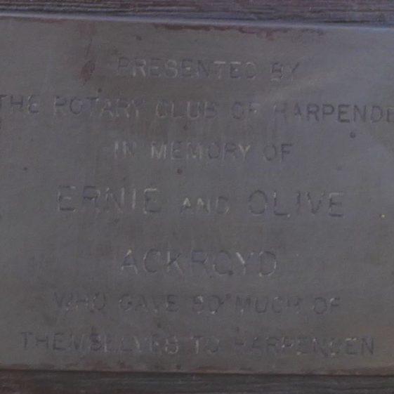 Ernie and Olive Ackroyd - Cricket ground