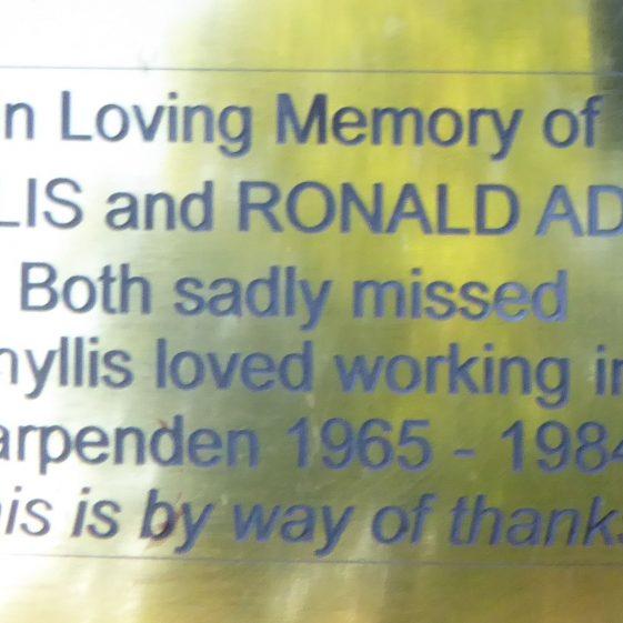 Phyllis and Ronald Adams - outside British Legion