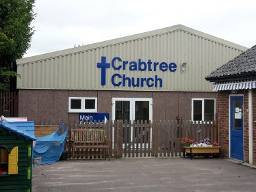 Crabtree Church, new building in 2005, replaced the old hall at the rear   Crabtree Church