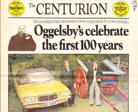 Oggelsby's Centenary - 1873 to 1973