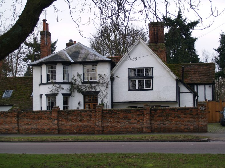 The Bull, Leyton Road, an inn from 1586.  Known as The Angell in 1613, and The Black Bull by 1639.  For a while it was a school house, but became an inn again by 1719, with a sign