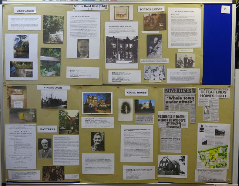 Panel F - Milton Road East - 1 - 11, inclduding Dr Hugh Fraser, Ronald Fisher, Charles Williams and threat of demolitions