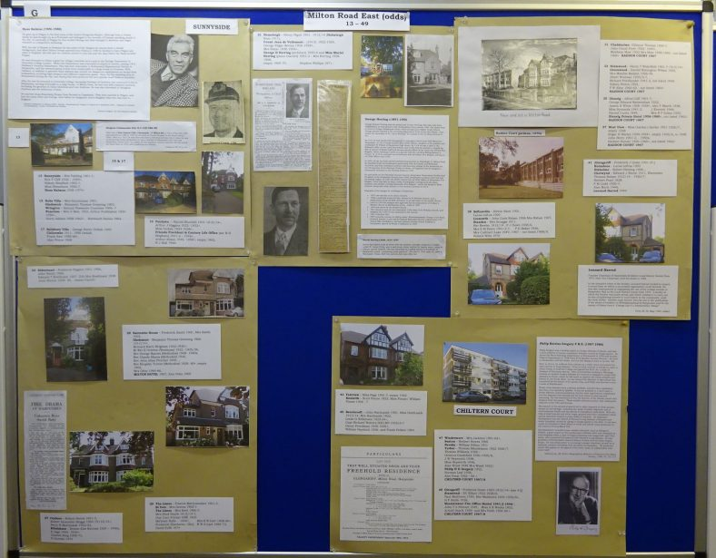 Panel G - Milton Road East  13-49, including Hans Kalmus, Milton House Hotel and George Herring