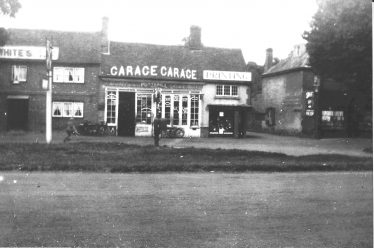 Putterill's garage, with Harpenden's first petrol pump, next to the Cross Keys, c.1920 | Jim Putterill - scan for LHS archives
