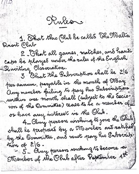 Malta Quoits Club rules - page 1   LHS Archives