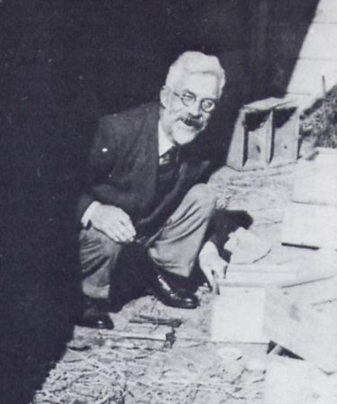 R A Fisher, mending his mousetraps, Rothamsted   from R A Fisher: The Life of a Scientist, by Joan Fisher Box (Wiley, 1978)