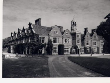 Rothamsted Manor, south and west fronts, c 1975   Royal Commission for Historical Monuments, LHS collection