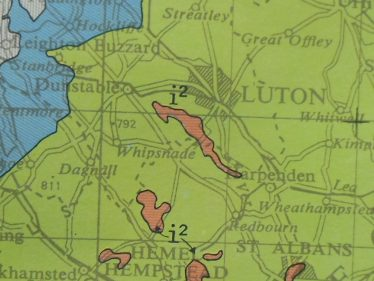 Extract from Geological Map of England | Photo by R Ross, Jan. 2015