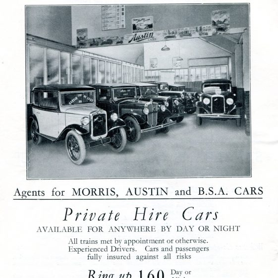 Advertisement in Silver Jubilee Programme, 1935 | LHS archives