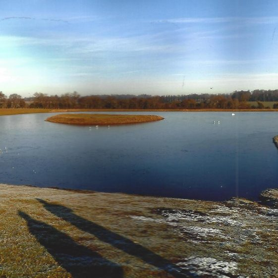 41. The new lake, north of Spring Road, Kinsbourne Green | LHS archives - L Casey, Jan 2015
