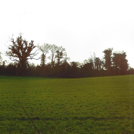 44. 'River Kin' - dip in Kennel Lane, and across the field - seen from A1081 | LHS archives - L Casey, Jan 2015