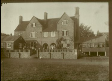 Rosemary Hospital from the garden, with recreation room on left and additional ward on the right, 1917   LHS archive