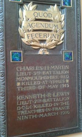 Memorial plaque to two Rothamsted scientists - re-hung in Rothamsted Conference Centre