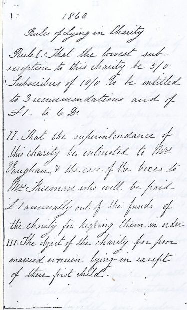 Rule book - aims of the charity | LHS archives
