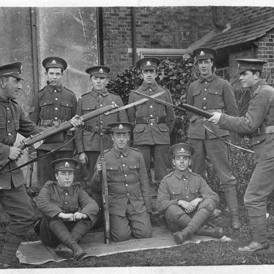 50.  2_6th-Derby-scheme-men - Territorials, probably in Watford 1915 | Michael Briggs - SF15-MB