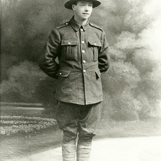 34.  Charlie Knight of 11 Cravells Road, Harpenden, who served in the New Zealand army, during the 1914-18 war. | LHS archive - SF 0032