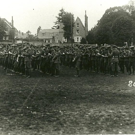 9.  Church parade on Harpenden Common, opposite 'The Director's House', West Common. | LHS archives - SF 0026