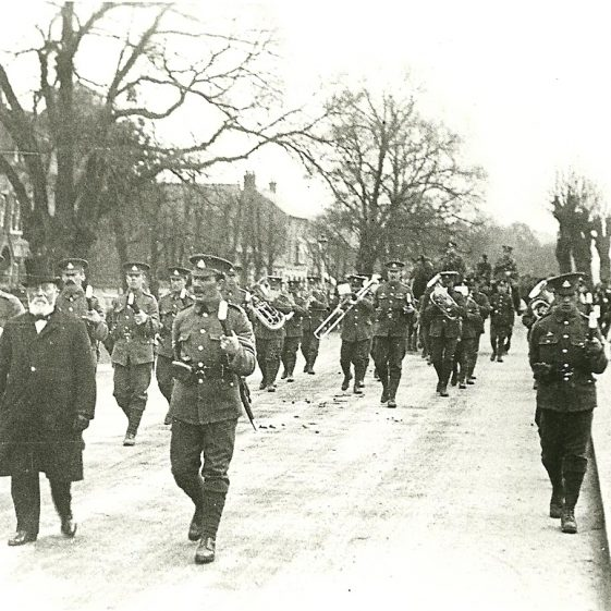 10.  Military funeral, High Street, Harpenden, Winter 1914-15 | LHS archives - SF 0028