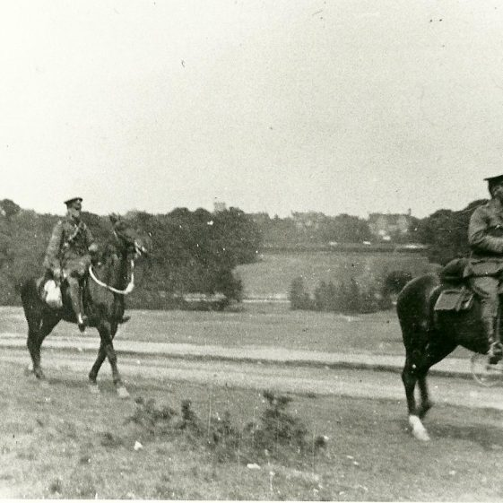18.  Officers riding on Harpenden Common - c.1914 | LHS archives - SF 0030