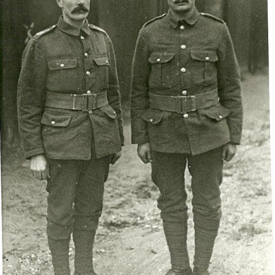 35.  Two territorial men, billeted in Cravells Road, Harpenden, c.1914 | LHS archive - SF 0033
