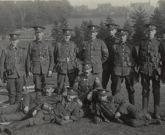 20.  6th Battalion, on Harpenden Common ('Rosemary', Milton Road, in background) 1914 | Michael Briggs - SF9-MB
