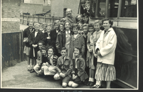 St Nicholas Primary School outing 1955