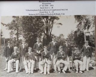 Hardenwick First XI team - 1950-51   Brian Haigh