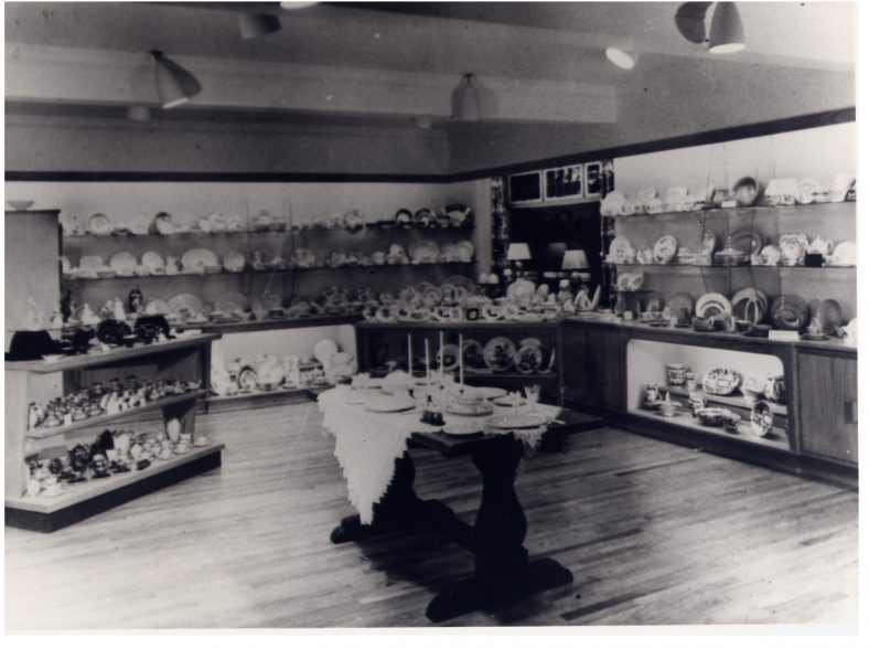 Kingston House - China dept, 1960s - later the tea-room   LHS archives, cat.no. LHS 004780