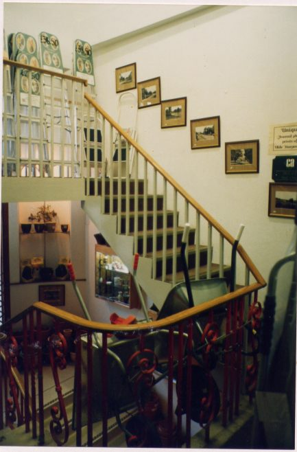 Kingston House stairs, 1994   LHS archives, cat. no. LHS 004772 - Les Casey