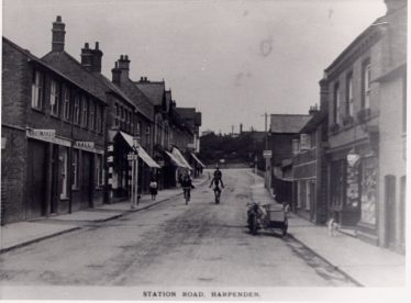 Station Road in the 1920s | LHS archive, cat. no, P.004378