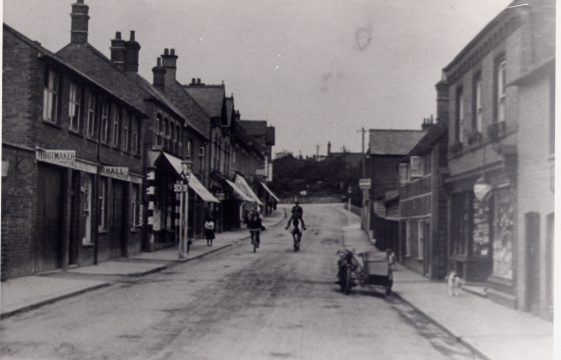 Station Road shops in the 1930s