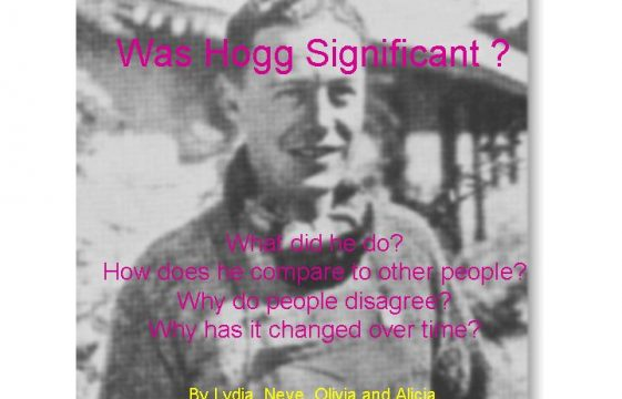 George Hogg - his significance - 4