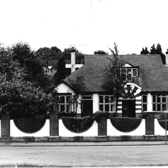 St Andrew's Lodge, 7 Southdown Road, c.1970. the Iron railings in front of the hedge had been removed during WWII | LHS archives - LHS 5687