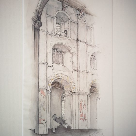 St Albans Abbey, interior | Anton Pieck - Copyright of the Pieck family