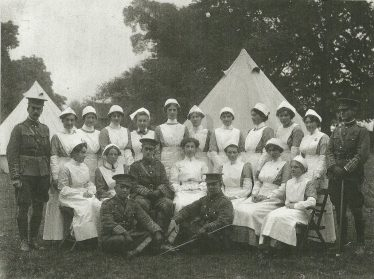 First hospital in Rothamsted Park, nr Hatching Green, August 1914 | LHS archive, cat.no. 11779