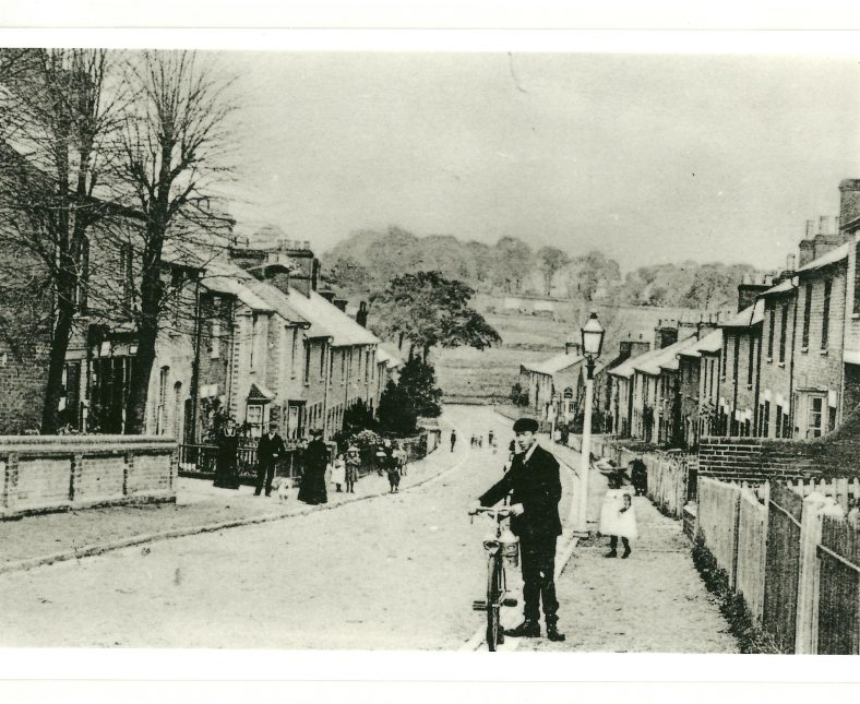 Lower Cravells Road, with Post Office behind the trees on the left, c.1900 | LHS collection