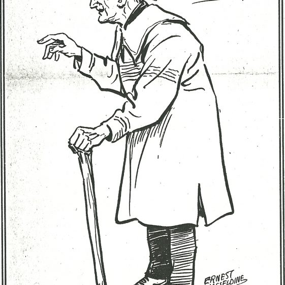 Sketch of Mr E Bland, 1921 | LHS archives - 006707, Harpenden Echo