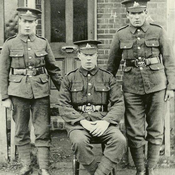 30.  Men from 1_4 or 1_5 bttn Lincolnshire Reg, poss. Cravells Road, Harpenden | LHS archives - SF 0002