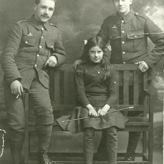 38.  Territorial men with young girl - perhaps a family studio portrait? | LHS archives