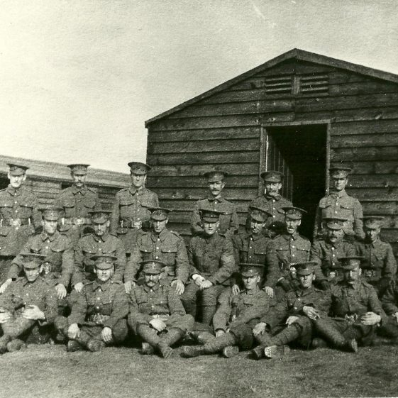 40.  Possibly Rifle Corps or men of Searchlight battery on Harpenden Common, 1917-18 | LHS archive - SF 0010