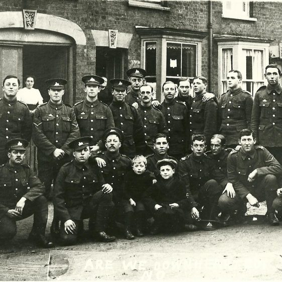 33.  Men of the 1/4th or 1/5th Battalion, Lincolnshire Regiment, possibly in Cravells Road, Harpenden, c.1914 | LHS archives - SF 0023