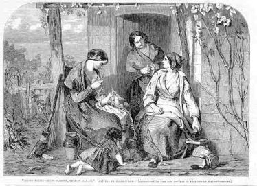 Straw plaiting in St Albans in 1853   Illustrated London News