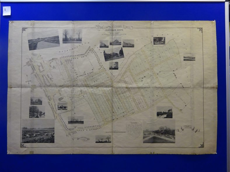 Auctioneer's map for the St Nicholas (Avenues) estate, 1897 - showing roads that changed name, and a very high
